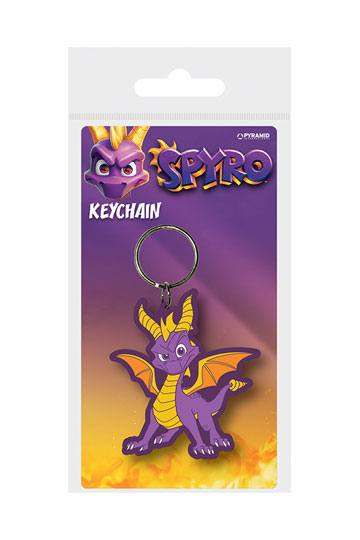 Spyro the Dragon Rubber Keychain Dragon Stance 6 cm