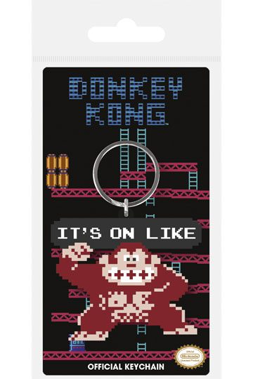 Donkey Kong Rubber Keychain It´s On Like 6 cm