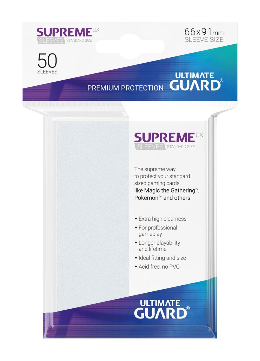 Ultimate Guard Supreme UX Sleeves Standard Size Frosted (50) - matné