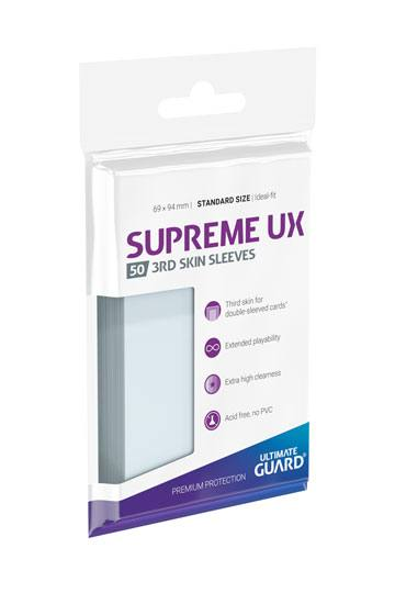 Ultimate Guard Supreme UX 3rd Skin Sleeves Standard Size Transparent (50) - priehľadné